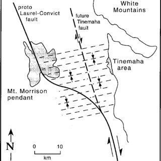 Line drawing of Morrison block rocks north of Agnew Lake