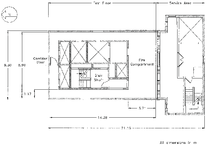 Typical floor plan for ten-story facility. Figure 2 Fire
