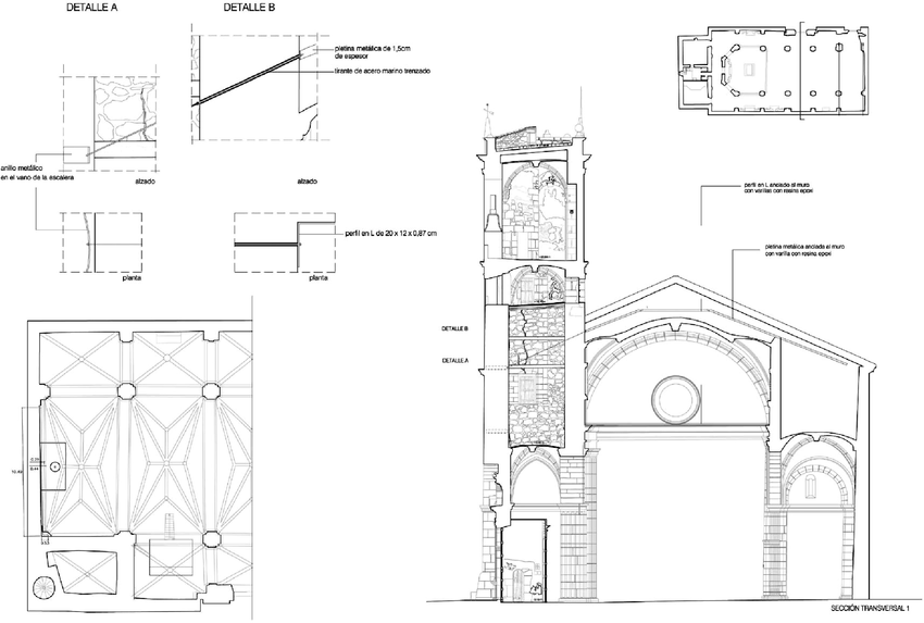 Example of ties between the bell tower and the church
