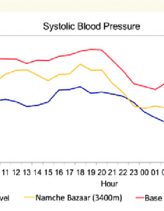 Systolic blood pressure profile for  in  healthy volunteer at different altitudes blue also rh researchgate