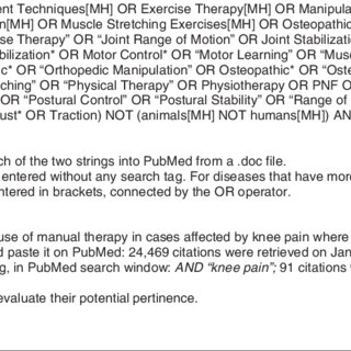 (PDF) Using PubMed Search Strings for Efficient Retrieval