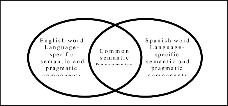 Semantic and pragmatic features in English-Spanish word