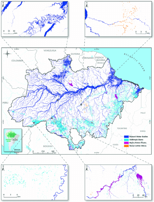small resolution of surface water types mapped for the entire amazon biome in 2007 the download scientific diagram