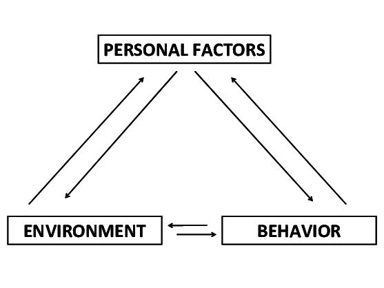 Reciprocal determinism, i.e. the reciprocal interaction