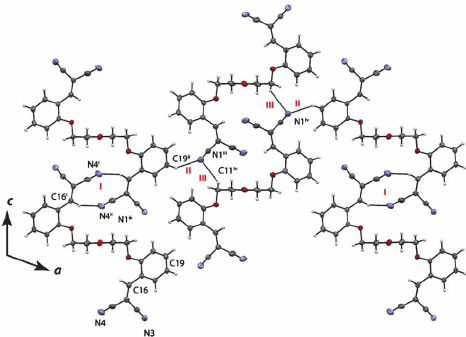 Representation of the crystal packing of compound 5