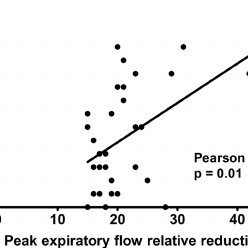 A paired correlation chart between the symptom score of