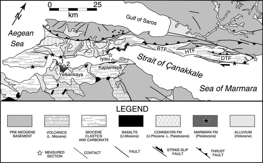 Simpli¢ed geological map of the western Marmara region