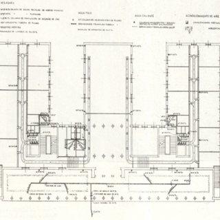 HVAC ducts in ground floor.Drawing by Universidad de