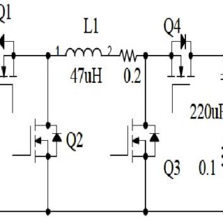 Non inverting synchronous buck boost converter 310