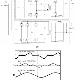 a schematic diagram of commercial aircraft power system b measured waveforms [ 850 x 1019 Pixel ]