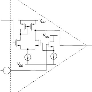 Circuit schematic of the amplifier (a) A 1 (b) A 2 : The