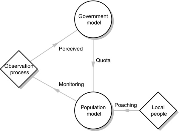 Diagram of the management strategy evaluation framework