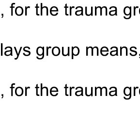 (PDF) Development of the Trauma Play Scale: Comparison of