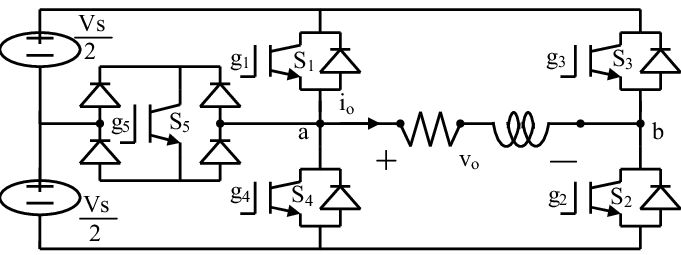 Power circuit of the proposed SinglePhase, Three-level PWM
