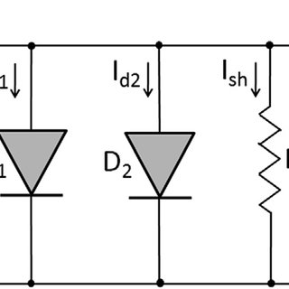 Bypass and blocking diodes are connected with the PV
