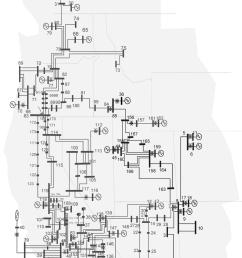 wecc 179 bus system one line diagram  [ 850 x 1333 Pixel ]