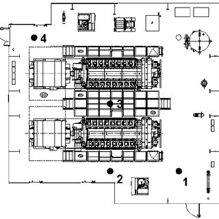 a: Engine room layout showing 4 locations (Type 1