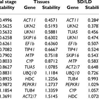(PDF) Evaluation of putative reference genes for gene