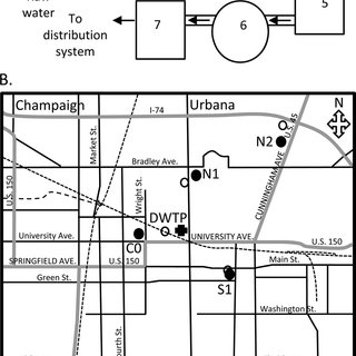 (A) Schematic diagram of the drinking water treatment