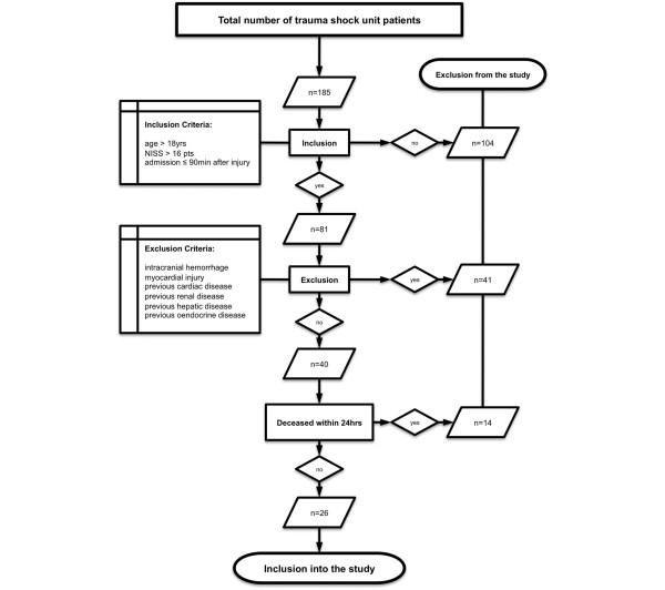 Flowchart depicting the criteria for excluding patients