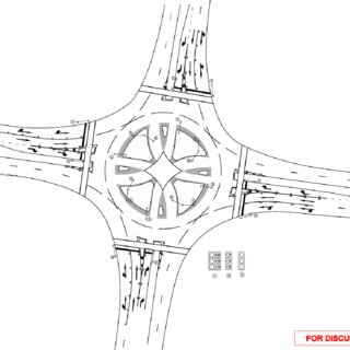 7: High-speed signalised roundabout-schematic signals and