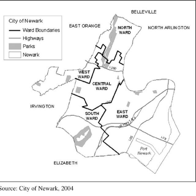 Newark Gangs Map
