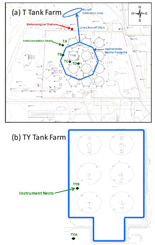 small resolution of plan view of t ty tank farm with the approximate locations of download scientific diagram