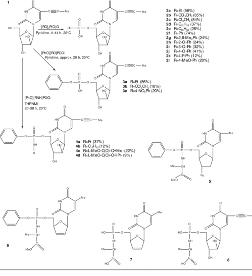 small resolution of structures of some nucleoside and nucleotide analogues