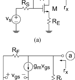 feedback amplifier example a transistor level model b small  [ 810 x 1569 Pixel ]