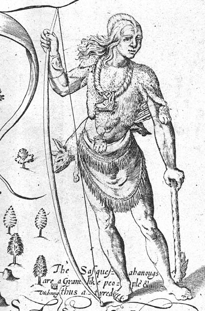 -A Susquehanna Indian warrior from Maryland. Engraved by