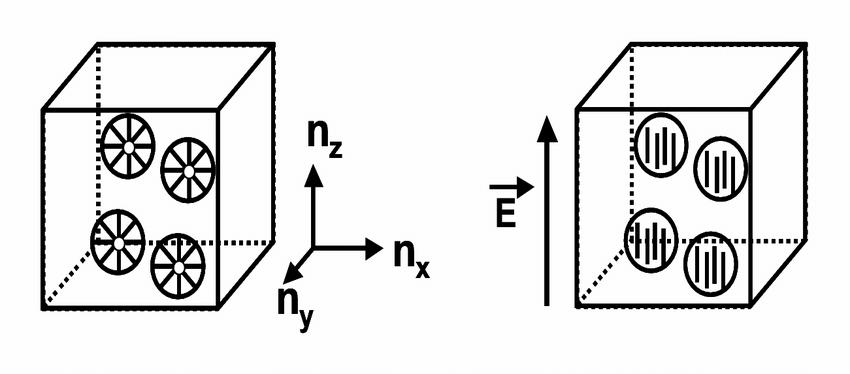 Schematic representation of the nano-PDLC material