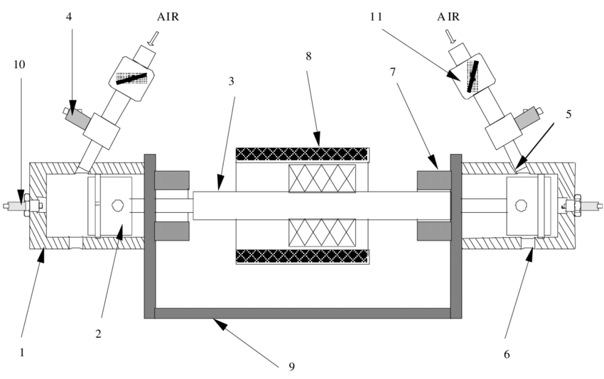 Geometric Layout of the Prototype Two-Stroke Cycle Linear