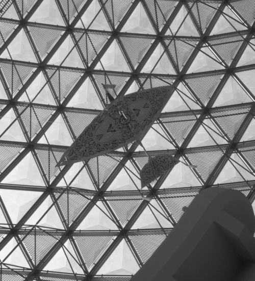 small resolution of traditional malay kite hanging above the space science display at the national science center in kuala