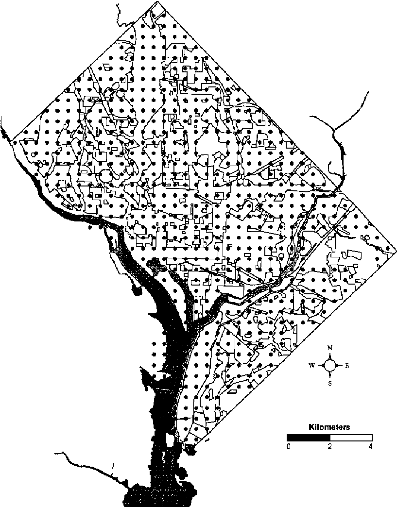 hight resolution of map of washington d c showing the city s political and land use boundaries with a