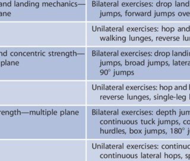 Example Neuromuscular Training Program