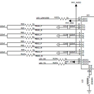Ethernet PHY 88e1111 schematics