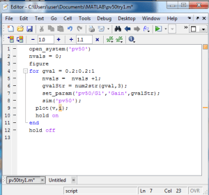 Matlab code to iterate different radiation levels The PV