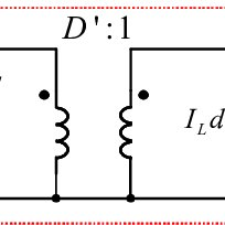 The AC small-signal equivalent circuit model of a boost