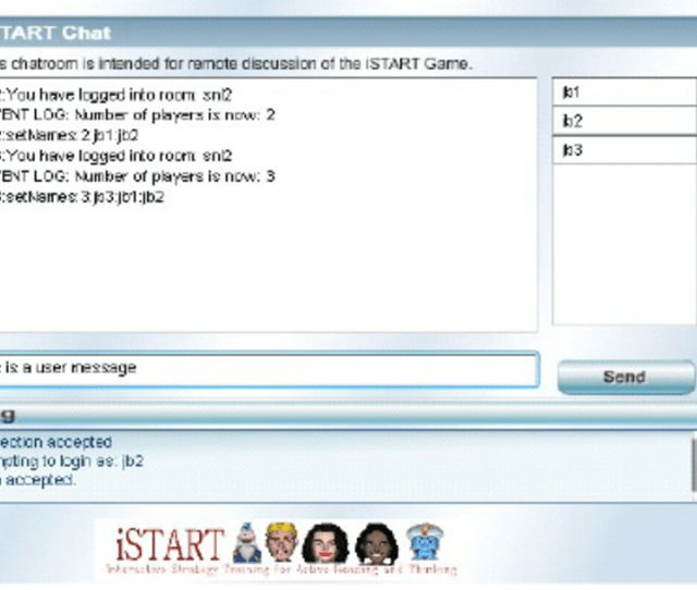 Istart Chat Room Allowing Players To Discuss Their Strategy Selection