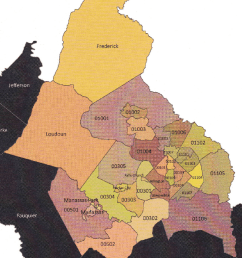 mwcog map with puma locations for washington d c metropolitan area  [ 850 x 978 Pixel ]