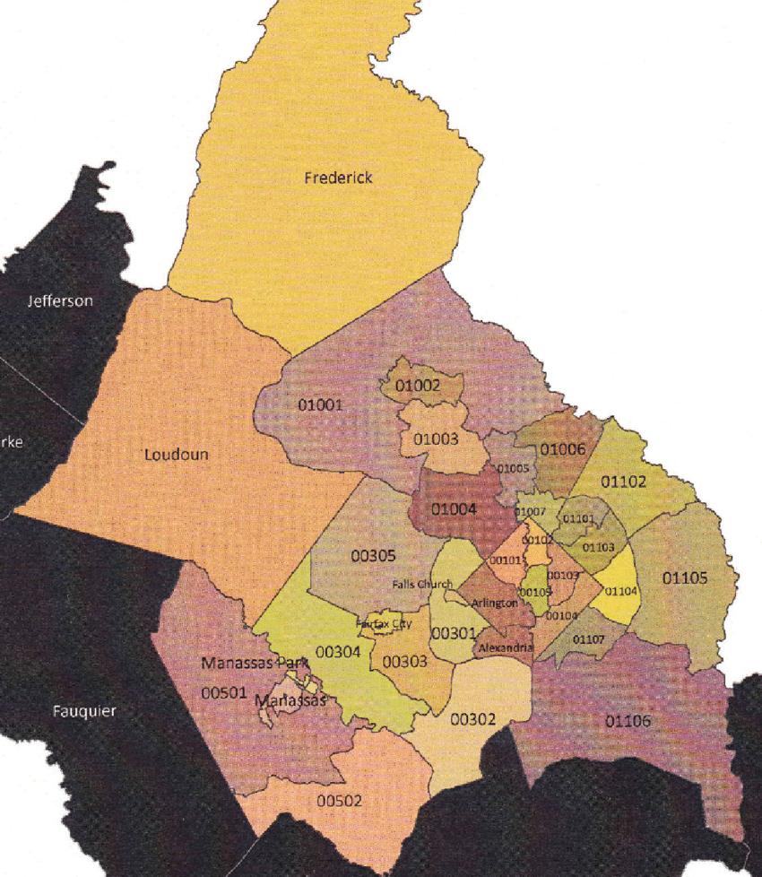 medium resolution of mwcog map with puma locations for washington d c metropolitan area