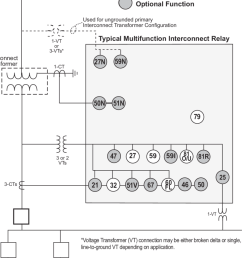 one line diagram for digital multifunction interconnect relay [ 850 x 1059 Pixel ]