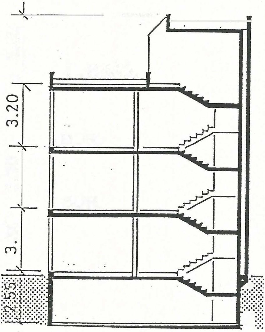 medium resolution of north south cross section of the central part of the leso building during