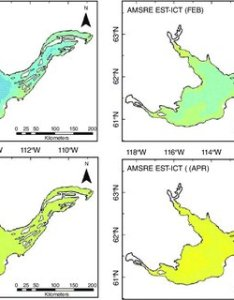 Ice thickness maps of great slave lake for the months january february march also rh researchgate