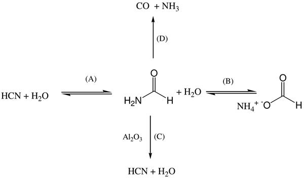 The basic formamide chemistry. A scheme summarizing basic