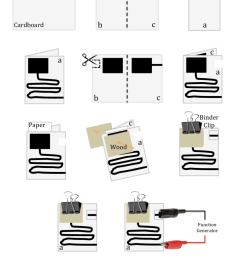 step by step construction of an rc circuit on paper using conductive paint 1  [ 850 x 1111 Pixel ]