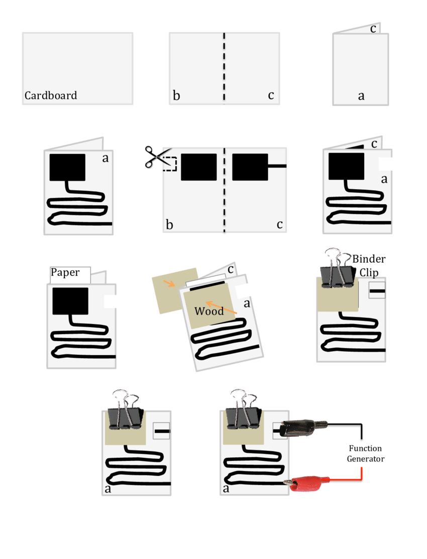 hight resolution of step by step construction of an rc circuit on paper using conductive paint 1
