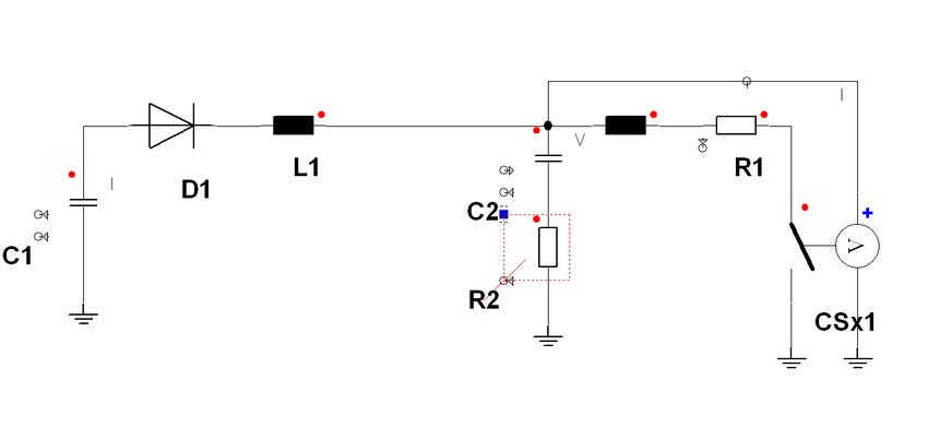 Auto prepulser circuit simulation model R2: Damping