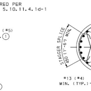Seismic Zone 2 Circular Column with Hoop Reinforcement