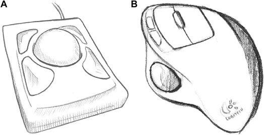 The original version of the Kensington Expert Mouse